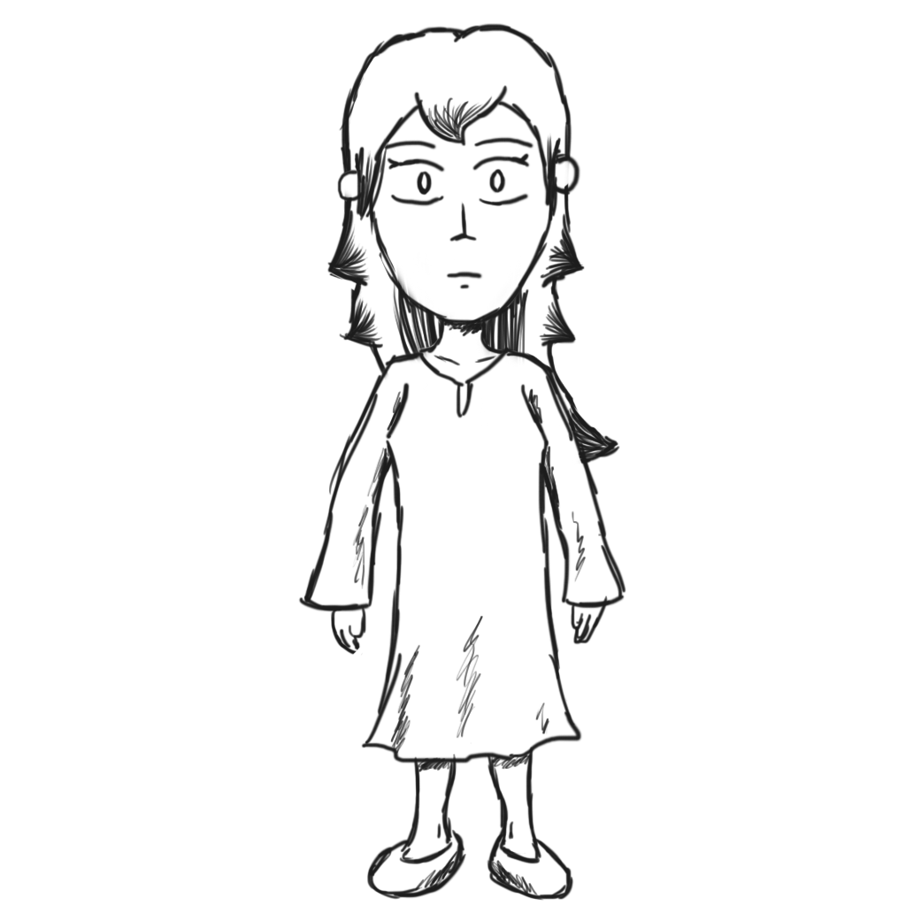 Drew as she appears in-game.