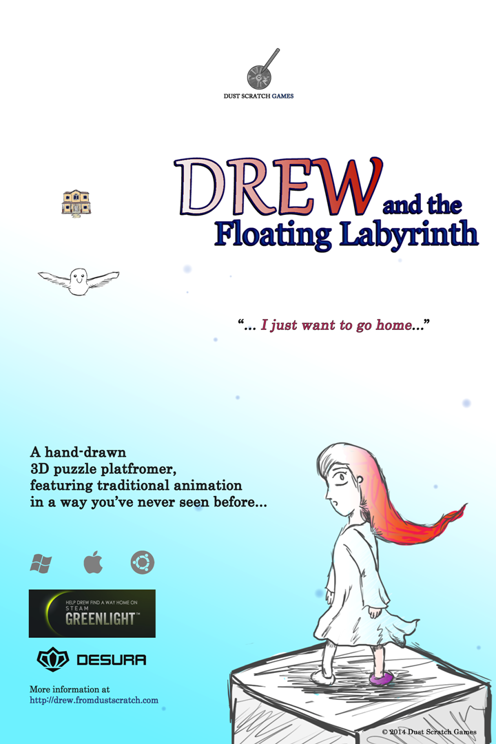 "A lovely poster for ""Drew and the Floating Labyrinth"""