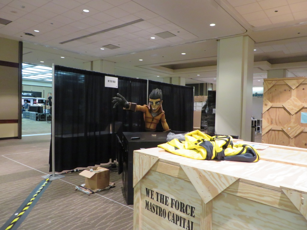 Before PAX starts, everyone is busy setting up