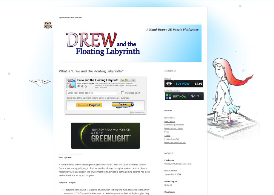 """""""Drew and the Floating Labyrinth"""" : it's amazing what a couple changes to the site makes..."""