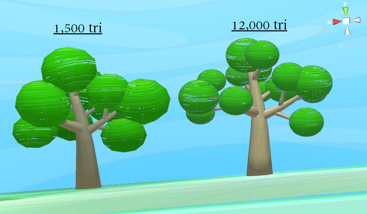 Trees don't need high-polygons...