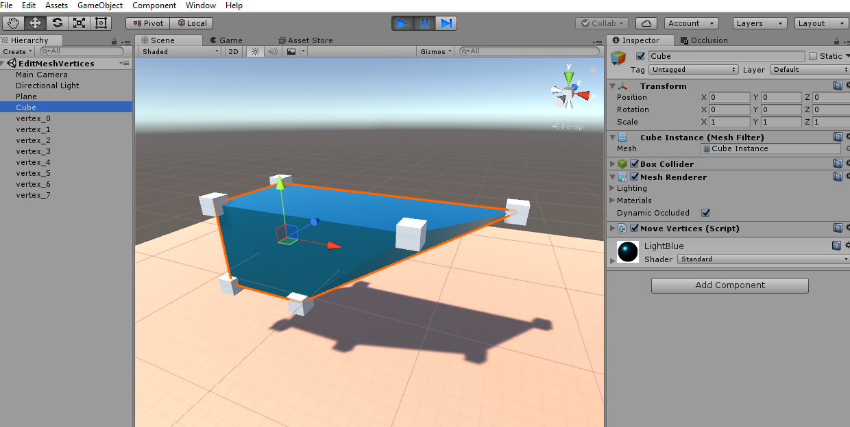 Editing 3D Meshes in Unity3D   DUST SCRATCH GAMES